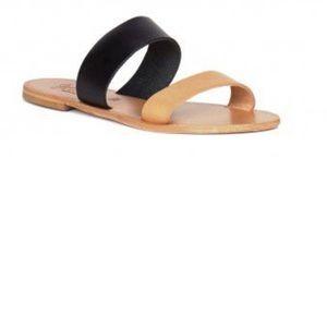 Joie Sable Black & Nude Sandals sz 8 NWOT